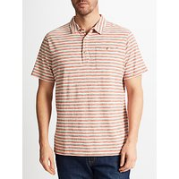 John Lewis Conductor Stripe Polo Shirt, Pink