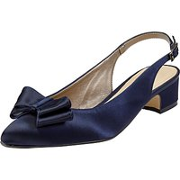 John Lewis Brooke Bow Sling Back Court Shoes, Navy