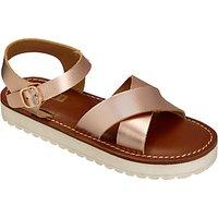 John Lewis Childrens Steph Flatform Sandals, Rose Gold