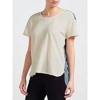 Maison Scotch Woven Back T-Shirt, Off White/Blue