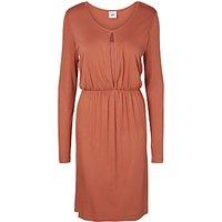Mamalicious Kimo Lia Jersey Maternity Nursing Dress, Cedar