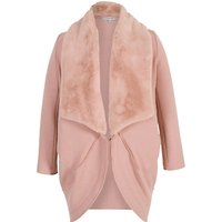 Chesca Shawl Collar Wool Coat, Pink