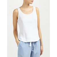 John Lewis Loose Fit Rib Vest, White