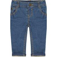 John Lewis Baby Stretch Denim Jeans, Blue