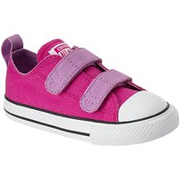 Converse Childrens All Stars 2V Riptape Ox Trainers, Pink/Multi