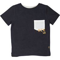 Angel & Rocket Boys Textured T-Shirt, Navy