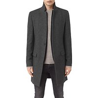 AllSaints Falun Wool-Blend Overcoat, Charcoal Grey