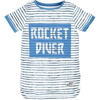 Angel & Rocket Boys Rocket Diver Striped T-Shirt, Multi