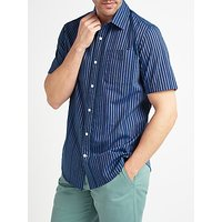 John Lewis End on End Stripe Short Sleeve Shirt