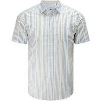 John Lewis End on End Stripe Short Sleeve Shirt