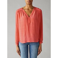 Pyrus Florence Silk Blouse, Coral
