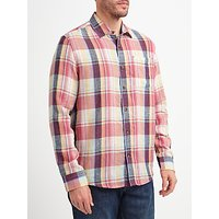 John Lewis Large Scale Check Shirt, Red