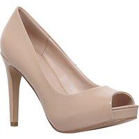 Carvela Lara 2 Occasion Peep Toe Court Shoes, Nude