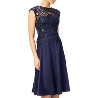Adrianna Papell Cap Sleeve A-Line Cocktail Dress, Night Navy