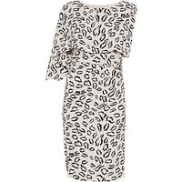 Gina Bacconi Abstract Animal Print Dress, Navy/Beige