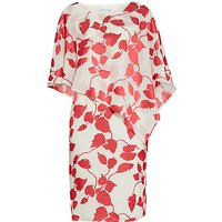 Gina Bacconi Burn Out Dress And Cape, Red/Cream