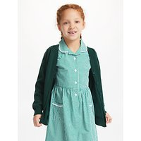 John Lewis and Partners Cotton Rich V-Neck School Cardigan