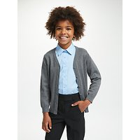 John Lewis and Partners The Basics Unisex School Cardigan, Pack of 2, Grey