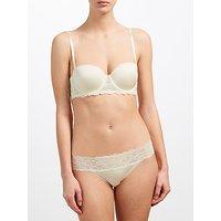 Calvin Klein Underwear Seductive Comfort Lace Multiway Bra, Ivory