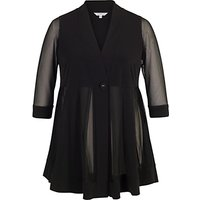 Chesca Mesh And Jersey Panel Jacket, Black