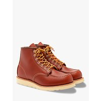 Red Wing 8131 Moc Oro-russet Portage Toe Boot, Red