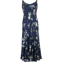 Chesca Fan Print Devoree Dress, Navy
