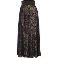 Chesca Devoree Mesh Skirt, Black/Gold