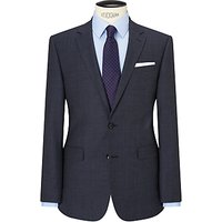 John Lewis Textured Super 100s Wool Tailored Suit Jacket, Ink Blue