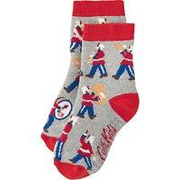 Cath Kidston Childrens Marching Band Slipper Socks, Grey