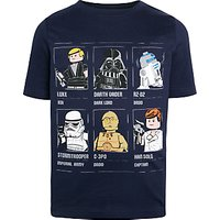 LEGO Star Wars Childrens Grid T-Shirt, Blue