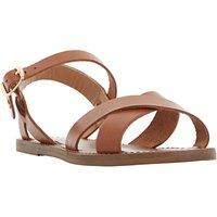 Dune Laila Cross Vamp Leather Sandals