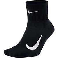 Nike Unisex Elite Cushion Quarter Running Socks, Black/White