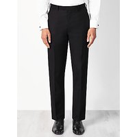 John Lewis and Partners Wool Basket Weave Regular Fit Dress Suit Trousers, Black