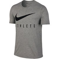 Nike Dri-FIT Swoosh Athlete Training T-Shirt, Grey Heather