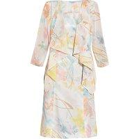Gina Bacconi Floral Print Dress And Jacket, Watercolour
