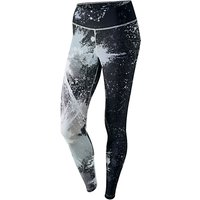 Nike Power Legendary Print Training Tights, Pure Platinum/Black