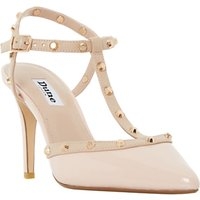 Dune Catelyn Studded T-Bar Court Shoes