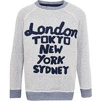 John Lewis Boys Cities Sweatshirt, Grey