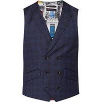 Ted Baker Pidginj Check Tailored Waistcoat, Grey