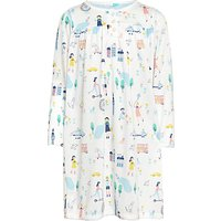 John Lewis Childrens Park Day Long Sleeved Night Dress, White/Multi