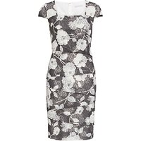 Gina Bacconi 3D Floral Printed Dress, Slate