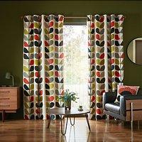 Orla Kiely Multi Stem Pair Lined Eyelet Curtains, Multi