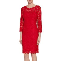 Gina Bacconi Lace Dress With Jewelled Flower Buttons