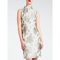 Bruce by Bruce Oldfield Velvet Jacquard Dress, Grey