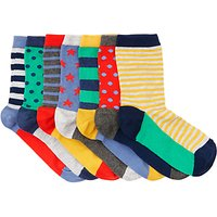 John Lewis Childrens Days Of The Week Star Socks, Pack of 7, Multi