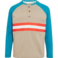 John Lewis Boys Long Sleeve Stripe Henley Shirt