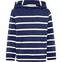 John Lewis Boys Breton Stripe Hoodie, Blue