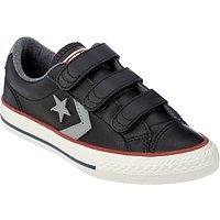 Converse Childrens Star Player 3V Triple Rip-Tape Trainers, Black Leather