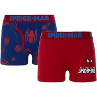 Spider-Man Boys Trunks, Pack of 2, Red/Blue