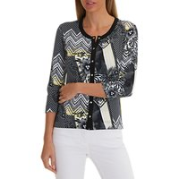 Betty Barclay Lattice Floral Print Cardigan, Black/Multi
